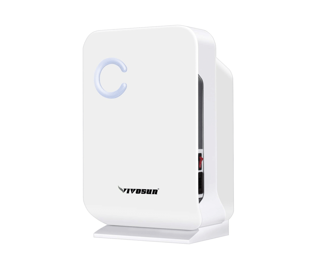 Image of VIVOSUN mini dehumidifier used in product review best dehumidifier for grow tent