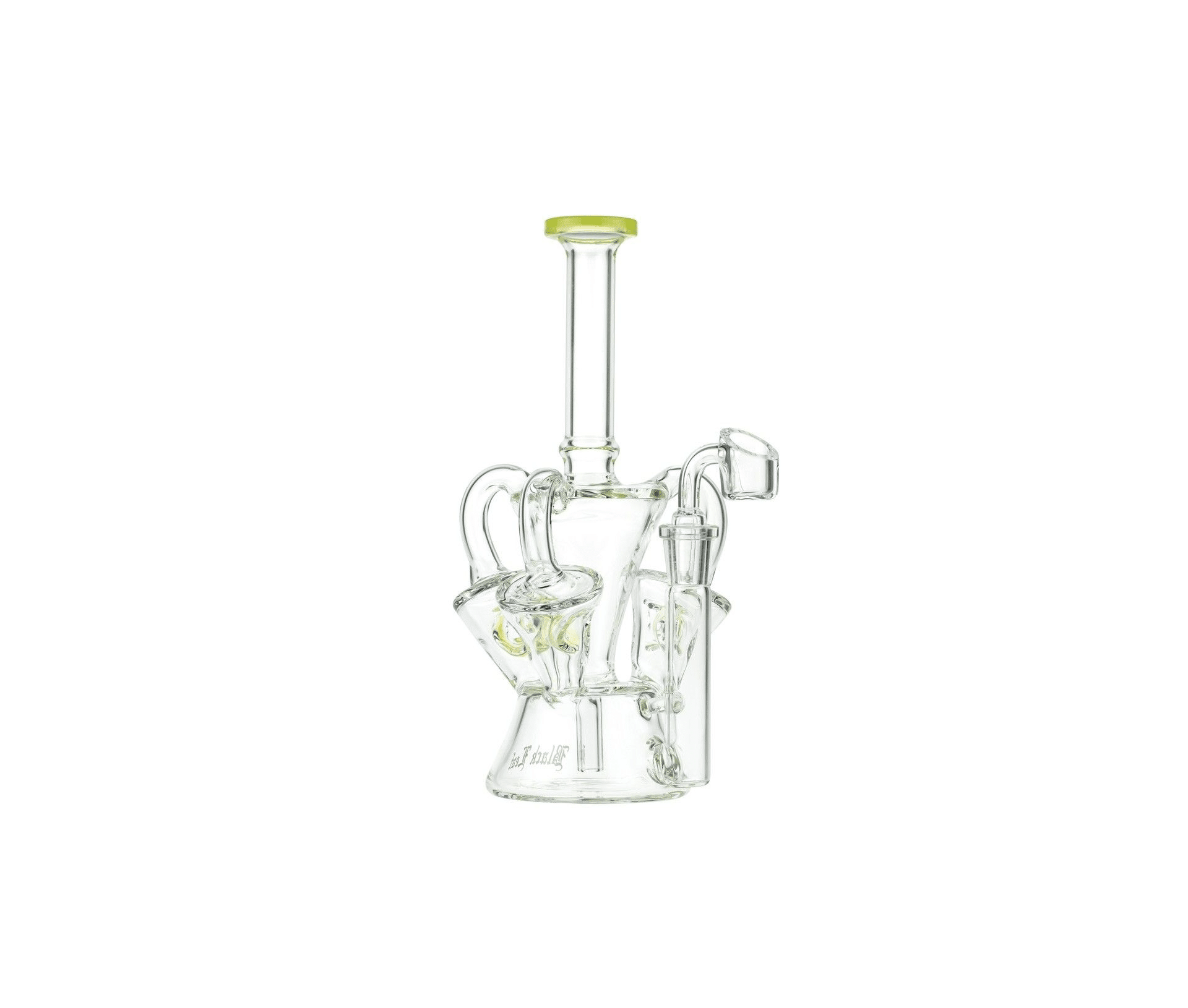 Black Leaf Glass Recycler Dab Rig with Three Recycler Chambers