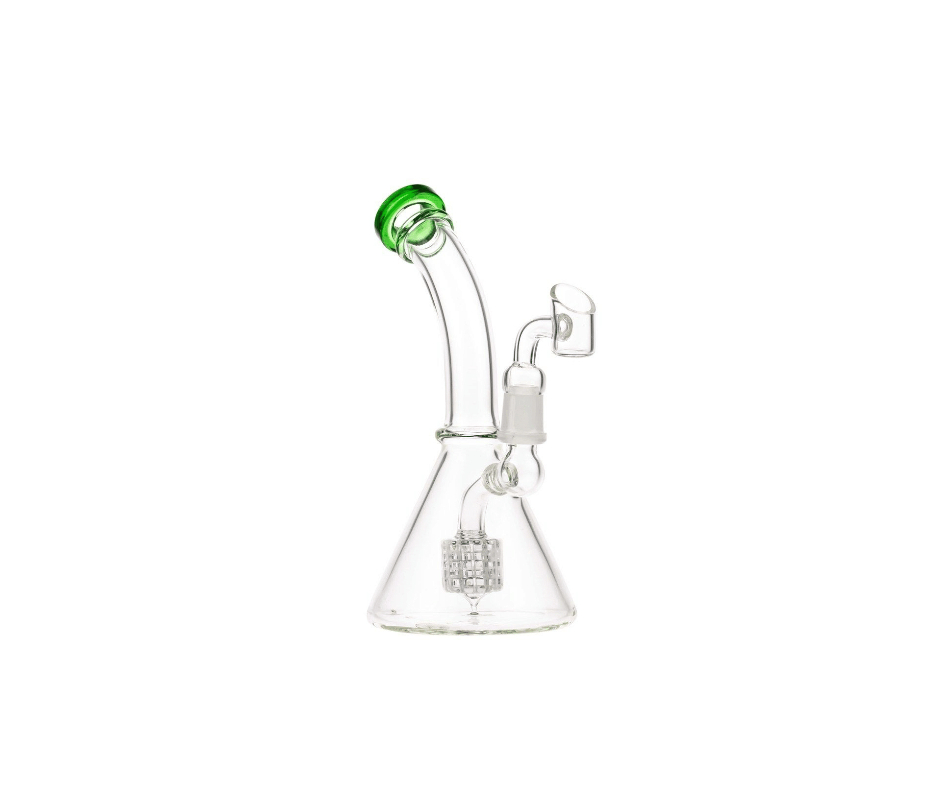 Glasscity Glass Beaker Base Dab Rig with Drum Perc