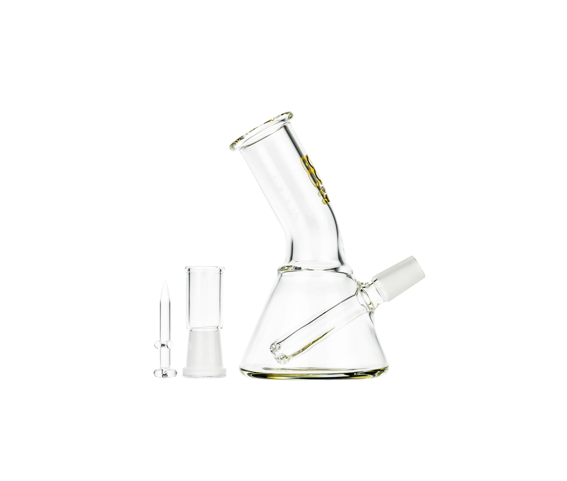 Glasscity Limited Edition Mini Beaker Dab Rig with Bent Mouthpiece